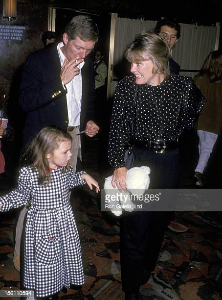Actress Jane Curtin Patrick Lynch and daughter Tess Lynch attend the 'Moscow Circus Opening Night Show' on September 15 1988 at Radio City Music Hall...