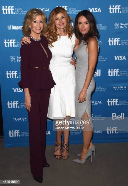 Actress Jane Fonda actress Connie Britton and actress Abigail Spencer at 'This Is Where I Leave You' Press Conference during the 2014 Toronto...