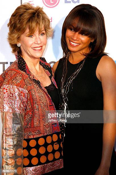 Actress Jane Fonda and DaughterinLaw Simone Bent arrive at the screening of Lake City taking place during the 7th Annual Tribeca Film Festival at the...