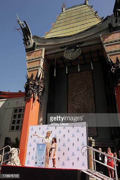 Actress Jane Fonda and granddaughter Viva Vadim attend actress Jane Fonda's Handprint/Footprint Ceremony during the 2013 TCM Classic Film Festival at...