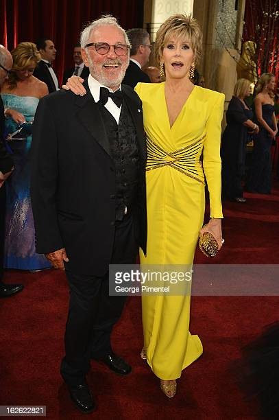 Actress Jane Fonda and guest arrive at the Oscars at Hollywood Highland Center on February 24 2013 in Hollywood California