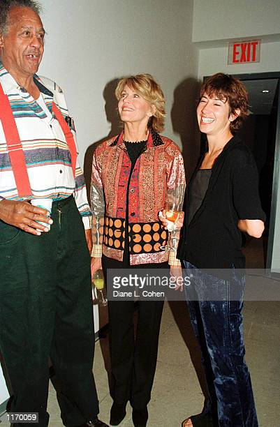 Actress Jane Fonda and her daughter Vanessa Vadim attend the launch party for the book Souls Grown Black October 24 2001 at the American Folk Art...