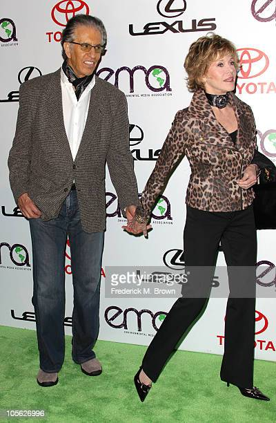 Actress Jane Fonda and her guest attend the 20th annual Enviornmental Media Association Awards at Warner Brothers Studios on October 16 2010 in...
