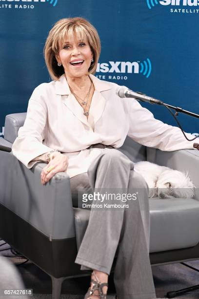 Actress Jane Fonda and Lily Tomlin talk with SiriusXM host Craig Ferguson about the new season of their Netflix comedy Grace Frankie during a...