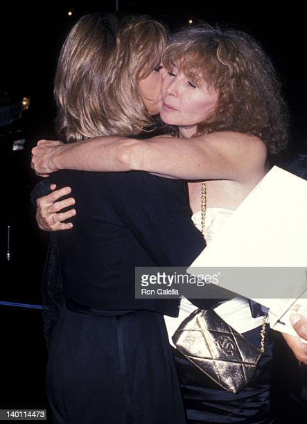 Actress Jane Fonda and Shirlee Fonda attend the Old Gringo NYC Premiere on October 5 1989 at the Ziegfeld Theatre in New York City