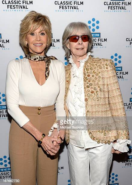 Actress Jane Fonda and Shirlee Mae Adams attend actress Jane Fonda's Handprint/Footprint Ceremony during the 2013 TCM Classic Film Festival at TCL...