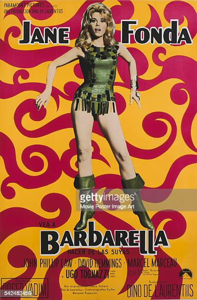 Actress Jane Fonda appears on the poster for the Paramount Pictures film 'Barbarella 1968