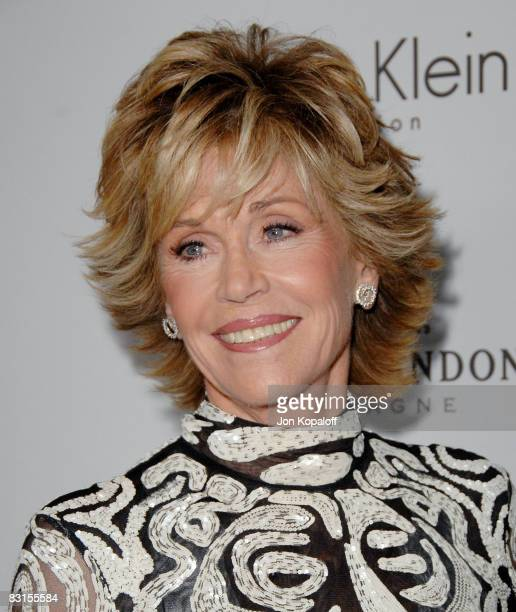 """Actress Jane Fonda arrives at """"Elle Magazine's 15th Annual Women in Hollywood Tribute"""" at the Four Seasons Hotel on October 6, 2008 in Beverly Hills,..."""