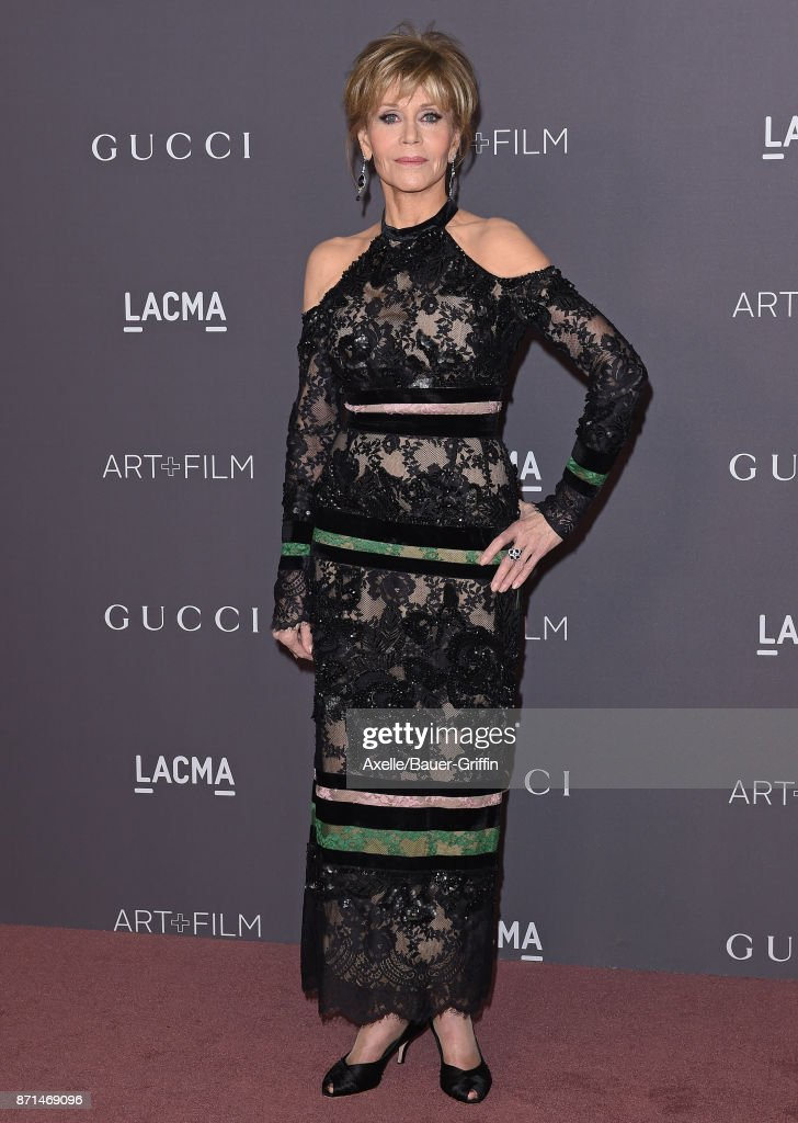 Actress Jane Fonda arrives at the 2017 LACMA Art + Film Gala at LACMA on November 4, 2017 in Los Angeles, California.