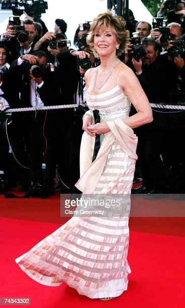 Actress Jane Fonda arrives at the 60th International Cannes Film Festival closing ceremony and L'Age des Tenebres premiere at the Palais des...
