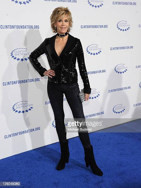 Actress Jane Fonda arrives at The Clinton Foundation's A Decade Of Difference Gala at The Hollywood Palladium on October 14 2011 in Los Angeles...