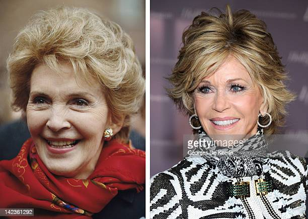 In this composite image a comparison has been made between Nancy Reagan and actress Jane Fonda Fonda is in talks reportedly to play Nancy Reagan in a...