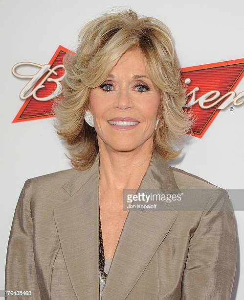 Actress Jane Fonda arrives at the Los Angeles Premiere 'Lee Daniels' The Butler' at Regal Cinemas LA Live on August 12 2013 in Los Angeles California