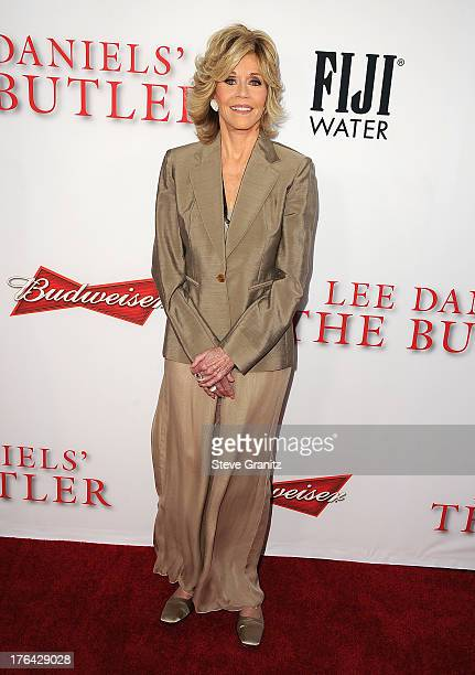Actress Jane Fonda arrives at the Los Angeles premiere of 'Lee Daniels' The Butler' at Regal Cinemas LA Live on August 12 2013 in Los Angeles...
