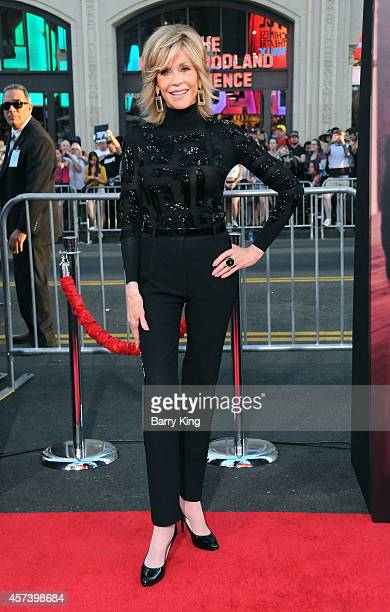 Actress Jane Fonda arrives at the Los Angeles Premiere 'This Is Where I Leave You' at TCL Chinese Theatre on September 15 2014 in Hollywood California