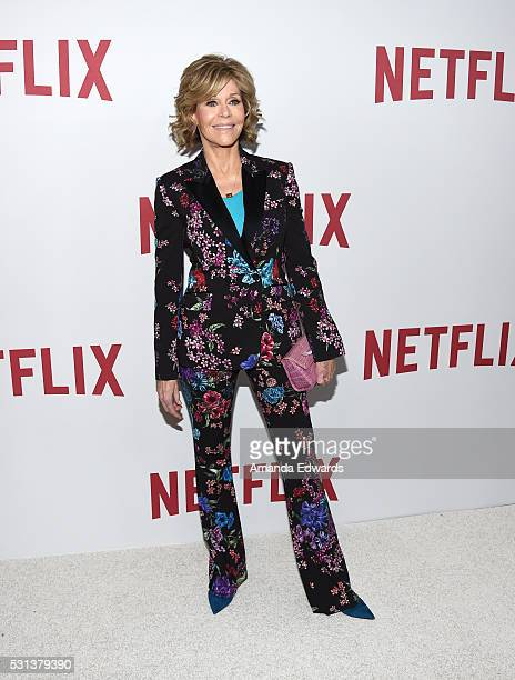 Actress Jane Fonda arrives at the Netflix's Rebels and Rule Breakers Luncheon and Panel Celebrating The Women of Netflix at the Beverly Wilshire Four...