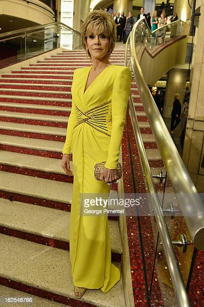 Actress Jane Fonda arrives at the Oscars at Hollywood Highland Center on February 24 2013 in Hollywood California