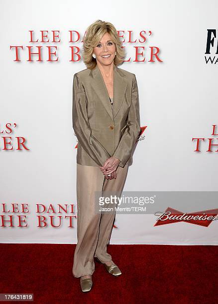 Actress Jane Fonda arrives at the premiere of The Weinstein Company's Lee Daniels' The Butler at Regal Cinemas LA Live on August 12 2013 in Los...