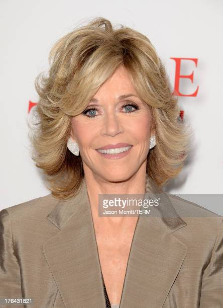 Actress Jane Fonda arrives at the premiere of The Weinstein Company's 'Lee Daniels' The Butler' at Regal Cinemas LA Live on August 12 2013 in Los...