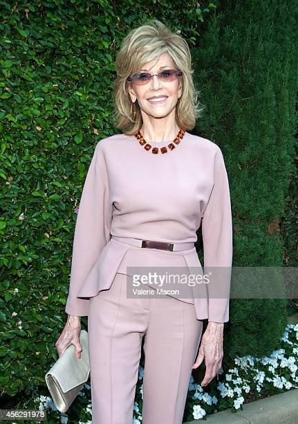 Actress Jane Fonda arrives at The Rape Foundation's Annual Brunchat Greenacres The Private Estate of Ron Burkle on September 28 2014 in Beverly Hills...