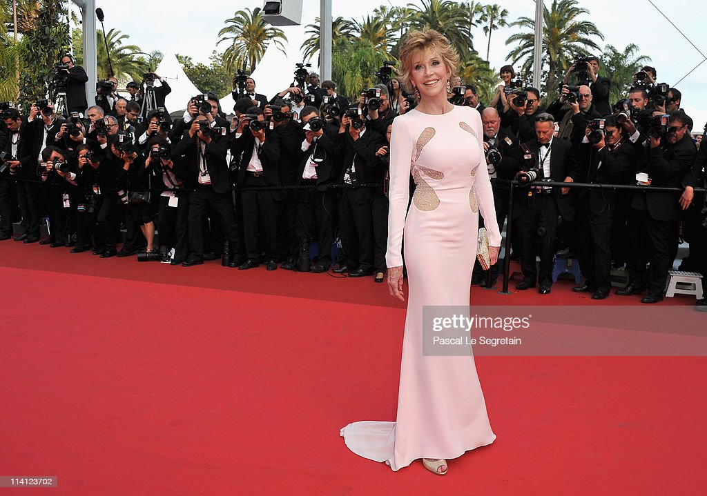 Actress Jane Fonda arrives at the 'Sleeping Beauty' premiere during the 64th Annual Cannes Film Festival at the Palais des Festivals on May 12, 2011 in Cannes, France.
