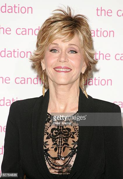 Actress Jane Fonda arrives for an event hosted by the Candie's Foundation to raise awareness about teen pregnancy at Gotham Hall on May 3 2005 in New...