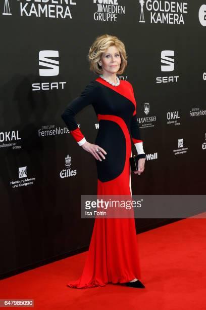 US actress Jane Fonda arrives for the Goldene Kamera on March 4 2017 in Hamburg Germany