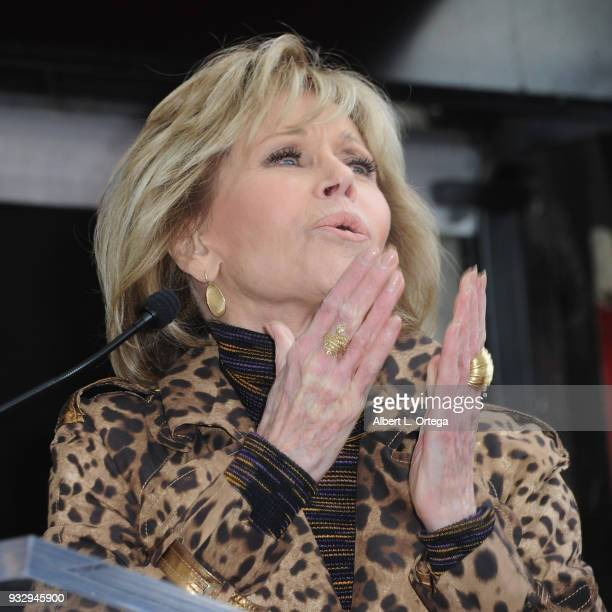 Actress Jane Fonda at the RuPaul Star ceremony held on The Hollywood Walk Of Fame on March 16 2018 in Hollywood California