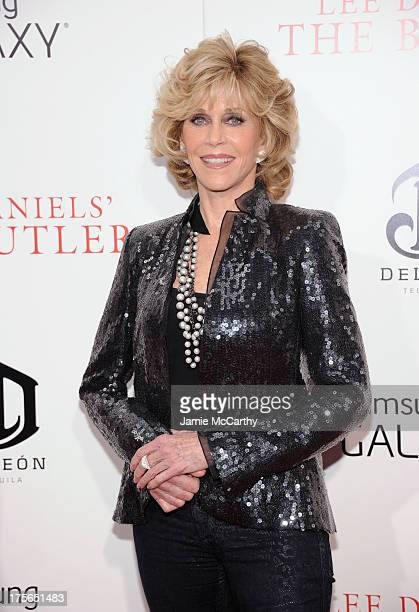 Actress Jane Fonda atends Lee Daniels' The Butler New York Premiere at Ziegfeld Theater on August 5 2013 in New York City