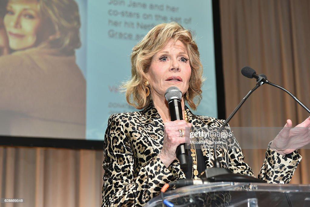 Actress Jane Fonda attends 25th Annual Captain Planet Foundation Gala at Intercontinental Buckhead on December 9, 2016 in Atlanta, Georgia.