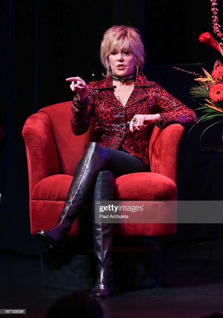 Actress Jane Fonda attends a 'Conversations With Coco' at The Gay & Lesbian Center on April 20, 2013 in Los Angeles, California.