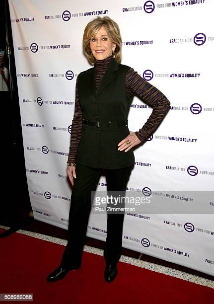 Actress Jane Fonda attends A Night Of Comedy with Jane Fonda presented by the Fund For Women's Equality & ERA Coalition Carolines On Broadway on...