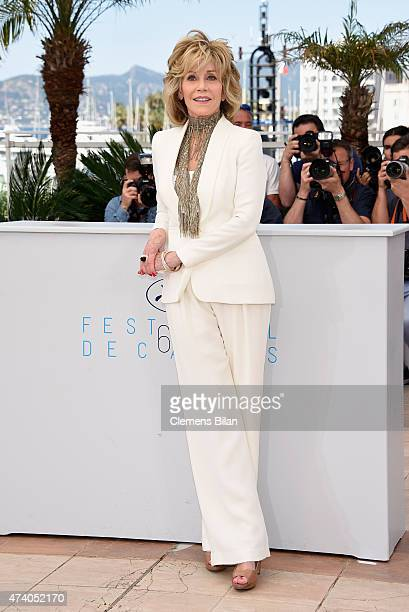 """Actress Jane Fonda attends a photocall for """"Youth"""" during the 68th annual Cannes Film Festival on May 20, 2015 in Cannes, France."""