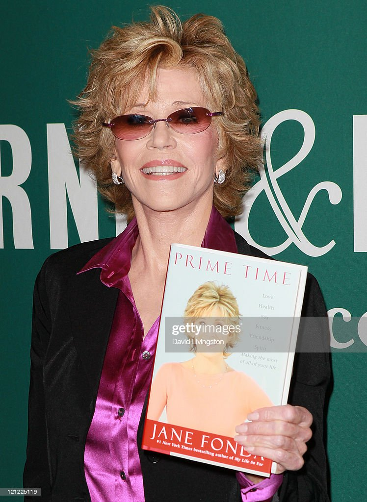 Actress Jane Fonda attends a signing for her book 'Prime Time: Love, Health, Sex, Fitness, Friendship, Spirit' at Barnes & Noble at The Grove on August 15, 2011 in Los Angeles, California.