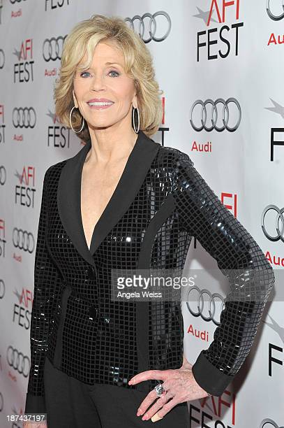 Actress Jane Fonda attends An Evening With David O Russell special tribute during AFI FEST 2013 presented by Audi at the Egyptian Theatre on November...