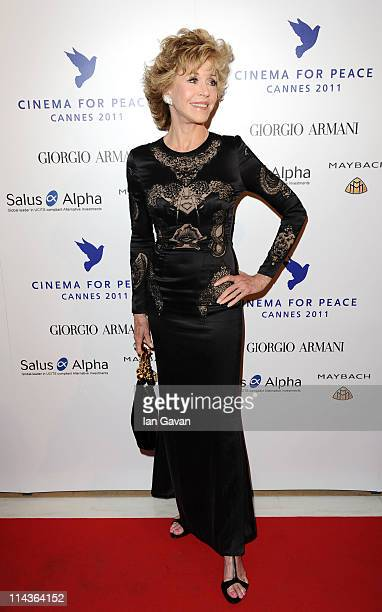 Actress Jane Fonda attends Cinema For Peace during the 64th Annual Cannes Film Festival on May 18 2011 in Cannes France