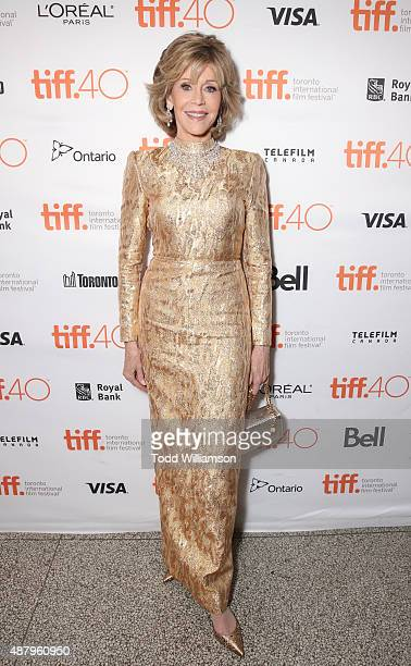 Actress Jane Fonda attends Fox Searchlight's 'Youth' Toronto International Film Festival special presentation on September 12 2015 in Toronto Canada