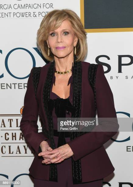 Actress Jane Fonda attends GCAPP 'Eight Decades of Jane' in celebration of Jane Fonda's 80th birthday at The Whitley on December 9 2017 in Atlanta...