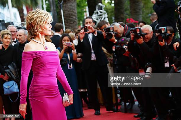 Actress Jane Fonda attends 'Inside Llewyn Davis' Premiere during the 66th Annual Cannes Film Festival at Palais des Festivals on May 19 2013 in...