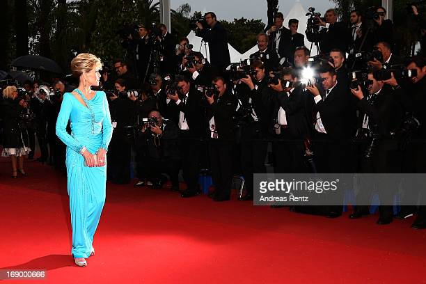 Actress Jane Fonda attends Jimmy P Premiere during the 66th Annual Cannes Film Festival at Grand Theatre Lumiere on May 18 2013 in Cannes France