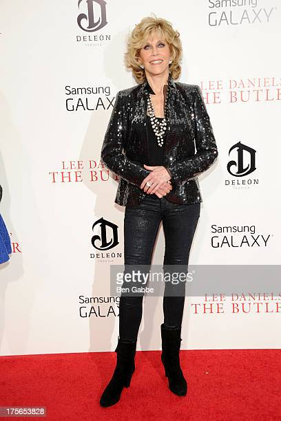 Actress Jane Fonda attends Lee Daniels' 'The Butler' New York Premiere at Ziegfeld Theater on August 5 2013 in New York City