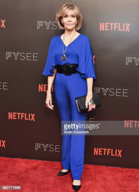 Actress Jane Fonda attends Netflix's Grace and Frankie FYC Special Screening Event at Netflix FYSee Space on May 13 2017 in Beverly Hills California
