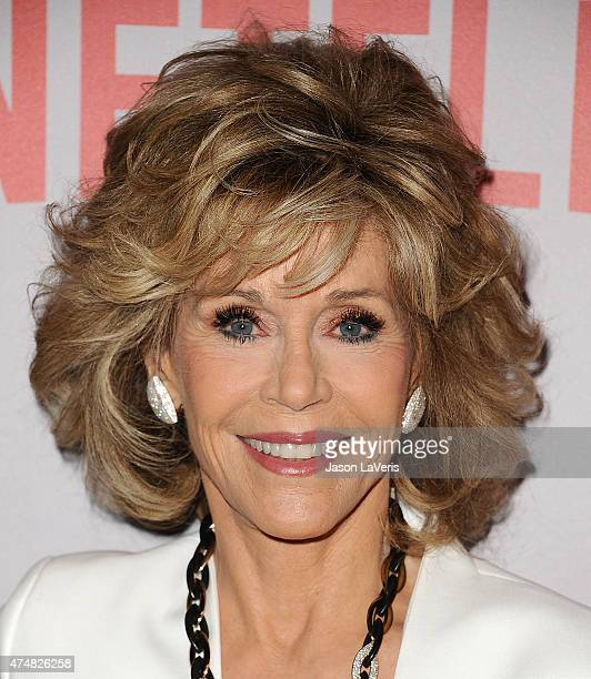 Actress Jane Fonda attends Netflix's Grace Frankie QA screening event at Pacific Design Center on May 26 2015 in West Hollywood California
