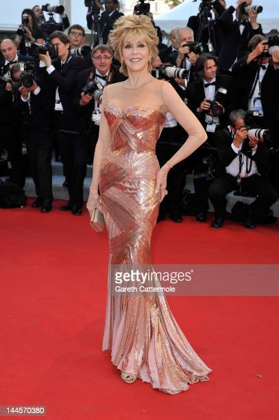 Actress Jane Fonda attends opening ceremony and 'Moonrise Kingdom' premiere during the 65th Annual Cannes Film Festival at Palais des Festivals on...