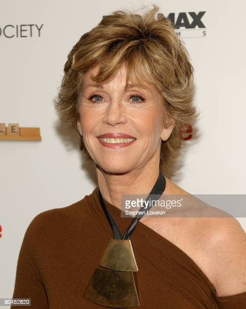 """Actress Jane Fonda attends """"Smart People"""" screening hosted by the Cinema Society & Linda Wells at the Landmark Sunshine Theater on March 31, 2008 in..."""
