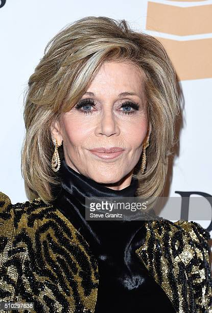 Actress Jane Fonda attends the 2016 PreGRAMMY Gala and Salute to Industry Icons honoring Irving Azoff at The Beverly Hilton Hotel on February 14 2016...