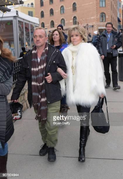Actress Jane Fonda attends the 2018 Sundance Film Festival on January 19 2018 in Park City Utah