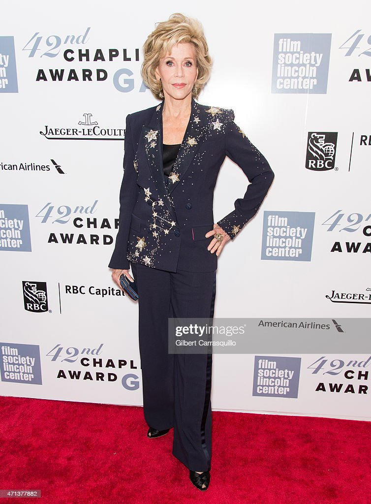 Actress Jane Fonda attends the 42nd Chaplin Award Gala at Alice Tully Hall, Lincoln Center on April 27, 2015 in New York City.