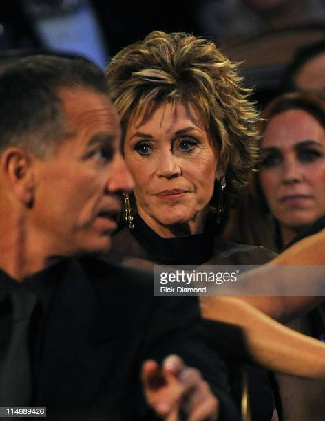 Actress Jane Fonda attends the 52nd Annual GRAMMY Awards Salute To Icons Honoring Doug Morris held at The Beverly Hilton Hotel on January 30 2010 in...