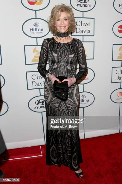 Actress Jane Fonda attends the 56th annual GRAMMY Awards PreGRAMMY Gala and Salute to Industry Icons honoring Lucian Grainge at The Beverly Hilton on...